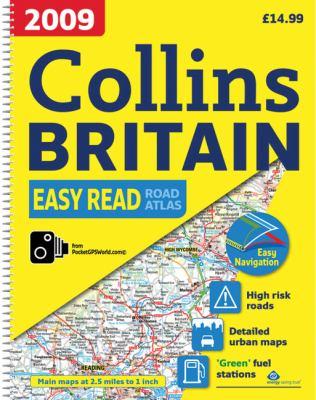 2009 Collins Easy Read Road Atlas Britain: A3 Edition