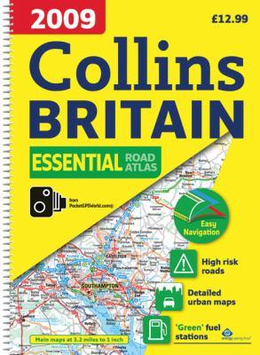2009 Collins Essential Road Atlas Britain