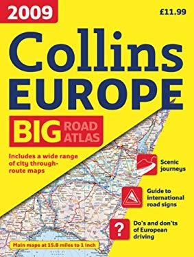 2009 Collins Road Atlas Europe: A3 Edition 9780007282791