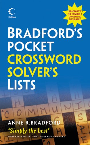 Collins Bradford's Pocket Crossword Solver's List 9780007333646