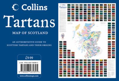 Tartans Wall Map of Scotland 9780007485895
