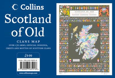 Scotland of Old Wall Map: Clans Map of Scotland