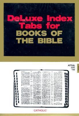 Bible Tab -- Catholic: Black Foil Tab W/Gold Lettering