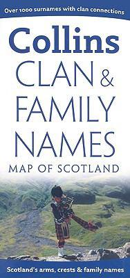 Clan & Family Names Map of Scotland
