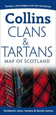 Clans and Tartans Map of Scotland