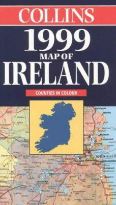Collins 1999 Map of Ireland: Scale 9 Miles to 1 Inch