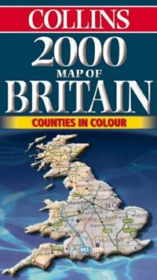 Collins 2000 Map of Britain: Counties in Colour