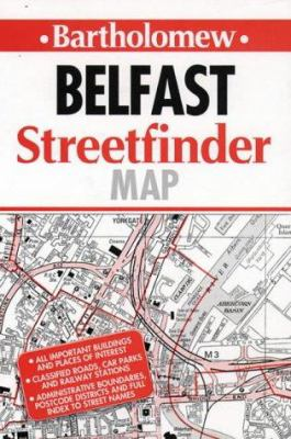 Collins Belfast Streetfinder Map: 4.25 Inches to 1 Mile