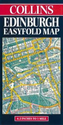 Collins Edinburgh Easyfold Map: 4.2 Inches to 1 Mile