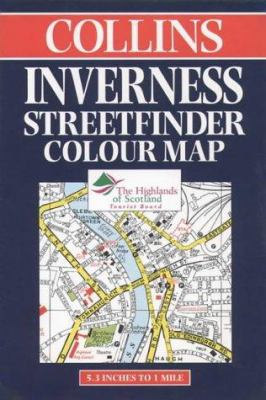 Collins Inverness Streetfinder Colour Map: 5.3 Inches to 1 Mile