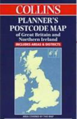 Collins Planner's Postcode Area Map of Great Britain and Northern Ireland: Scale 1:850 000