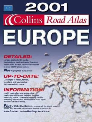 Collins Road Atlas, Europe, 2001