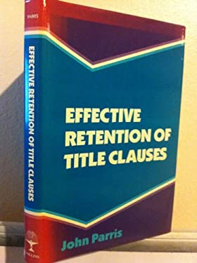 Effective Retention of Title Clauses