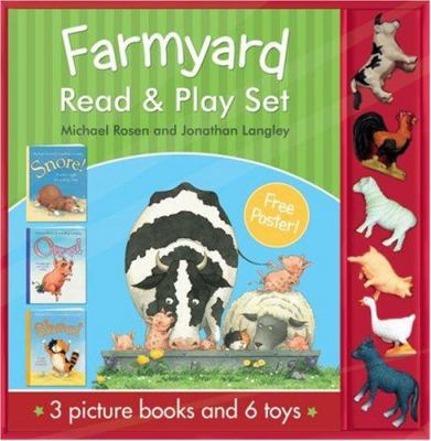 Farmyard Read & Play Set: Snore!/Oww!/Shoo! [With Poster and 6 Animal Toys]