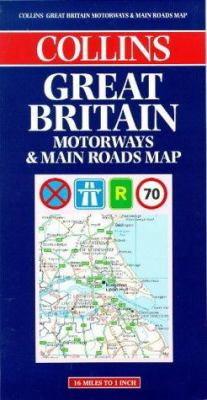 Great Britain Motorways & Main Roads Map