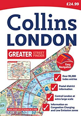 Collins London Greater Street Finder: A4 Edition