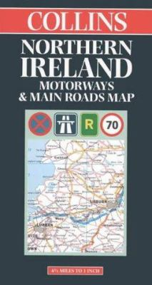 Northern Ireland Motorways & Main Roads Map