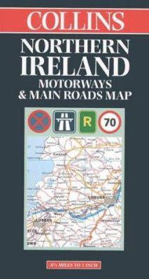 Northern Ireland Motorways & Main Roads Map