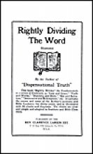 Rightly Dividing the Word: