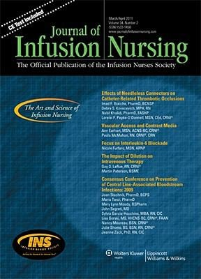 Journal of Infusion Nursing: Formerly Journal of Intravenous Nursing