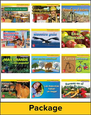 Math Connects, Kindergarten, Real-World Problem Solving Readers Deluxe Package (Spanish)