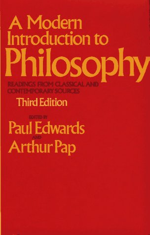 A Modern Introduction to Philosophy: Readings from Classical and Contemporary Sources