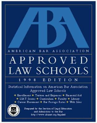 ABA Approved Law Schools 1998