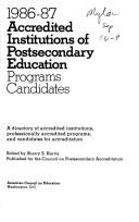 Accredited Institutions of Postsecondary Education 1986-87