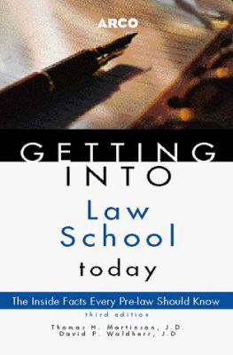 Arco Getting Into Law School Today 9780028624983