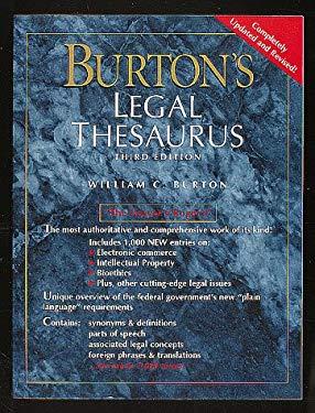 Burton's Legal Thesaurus 9780028653372