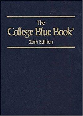 College Blue Book