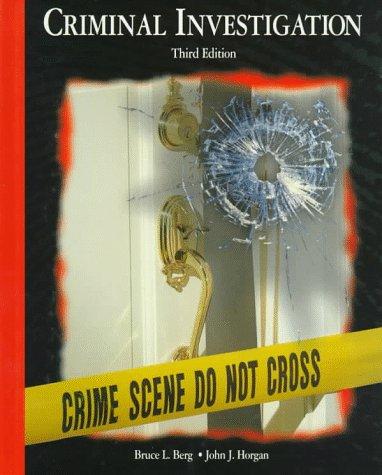 Criminal Investigation 9780028009285