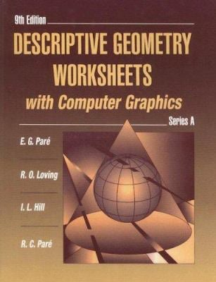 Descriptive Geometry Worksheets with Computer Graphics