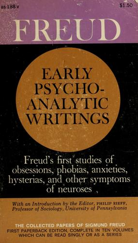 Early Psychoanalytic Writings