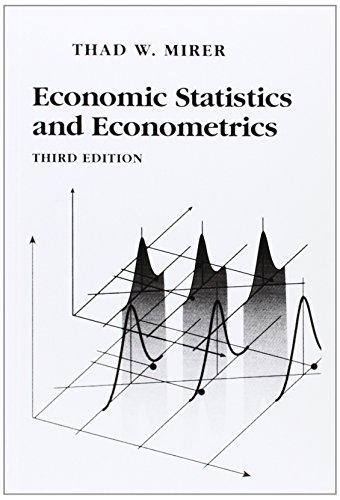 Economic Statistics and Econometrics