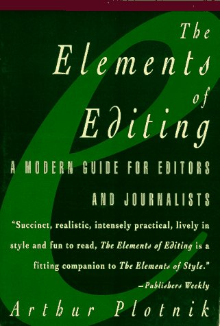 Elements of Editing Modern Guide for Ed