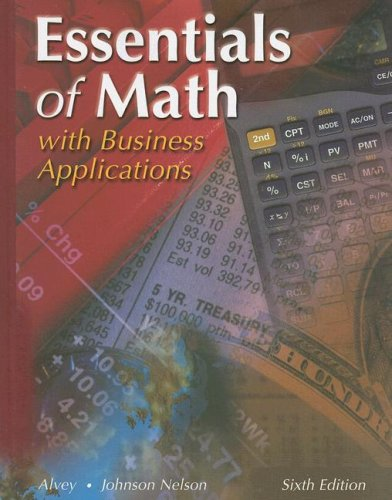 Essentials of Math: With Business Applications