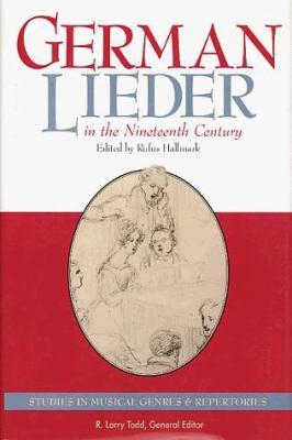 German Lieder in the Nineteenth Century 9780028708454