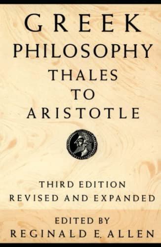 Greek Philosophy: Thales to Aristotle