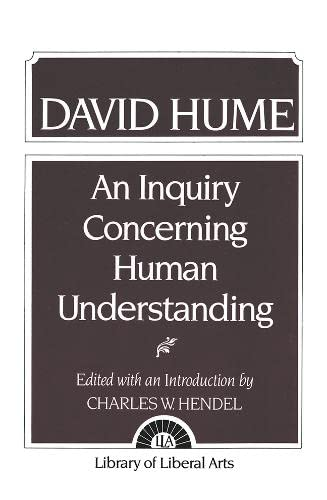 Hume: An Inquiry Concerning Human Understanding