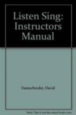 Listen and Sing: Instructor's Manual