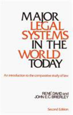 Major Legal Systems in the World Today 9780029076101