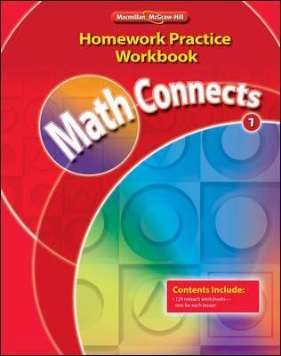 Math Connects, Grade 1, Homework Practice Workbook 9780021072958