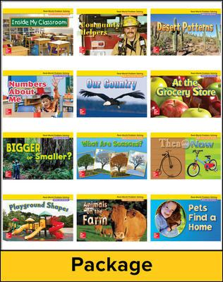 Math Connects, Kindergarten, Real-World Problem Solving Readers Deluxe Package (on Level)