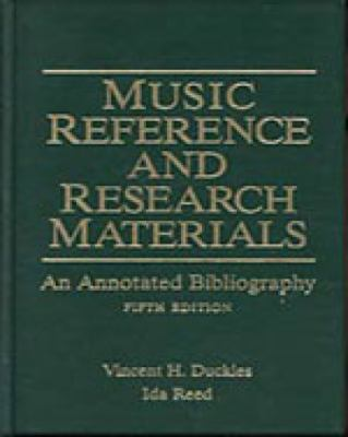 Music Reference and Research Materials: An Annotated Bibliography 9780028708218