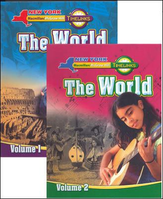 NY, Timelinks, the World Complete Student Edition Set, Vol. 1&2, Grade 6
