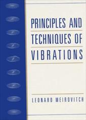 Principles and Techniques of Vibrations 114755