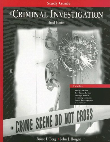 Study Guide to Accompany Criminal Investigation