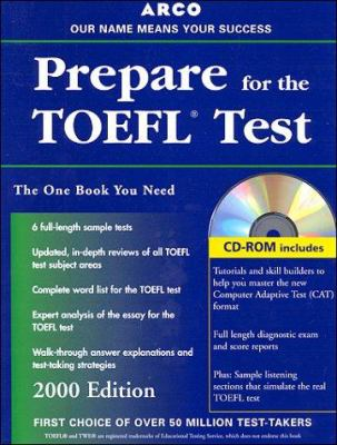 TOEFL: Test of English as a Foreign Language: Everything You Need to Score High on the TOEFL [With *] 9780028632209