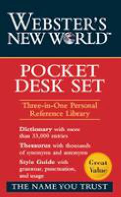Webster's New World Pocket Desk Set: Dictionary, Thesaurus, Style Guide